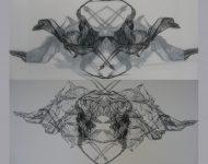 Graphik kunst Spinne