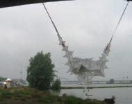 Waalbridge桥下的长袋渔网