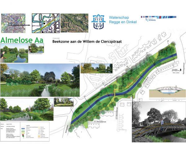 beek; almelose Aa; natuurontwikkeling recreatie; landschapsplan
