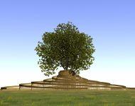 moderne grafheuvel
