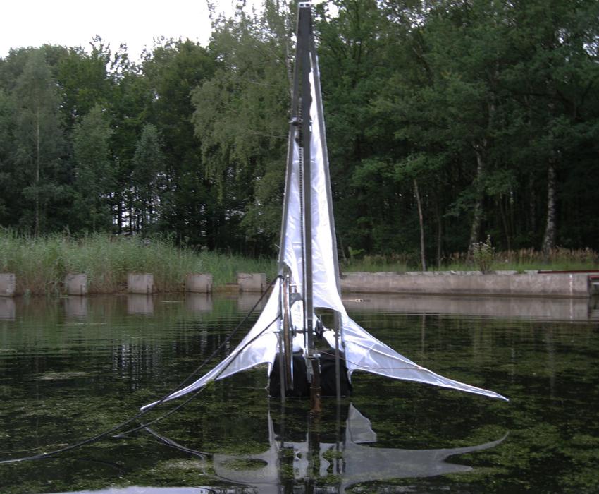 waterschrijver;installatie;landart;waterloopbos;kielzog