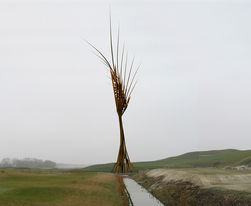korenaar; landart;installatie;kunst;friese pad afvalverwerking;Eck-fonds