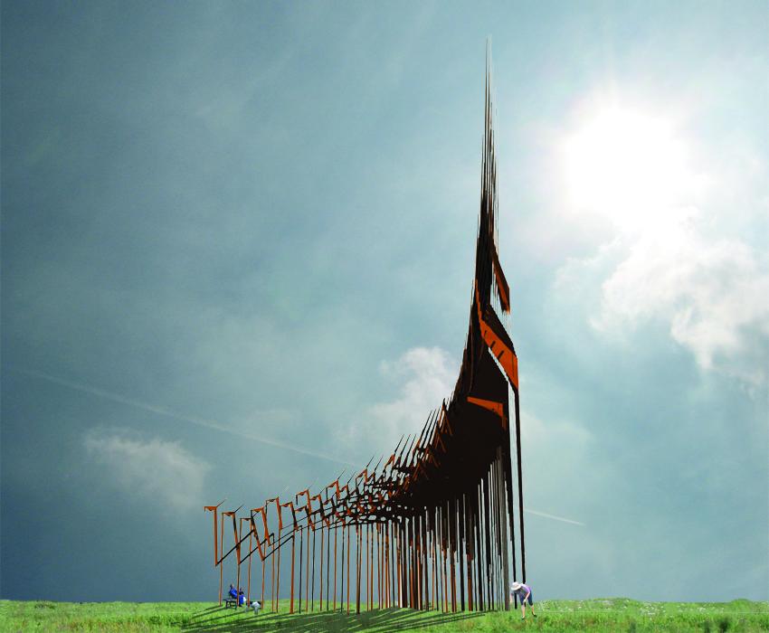 kerk;landart;spiritualiteit;kunst; installatie