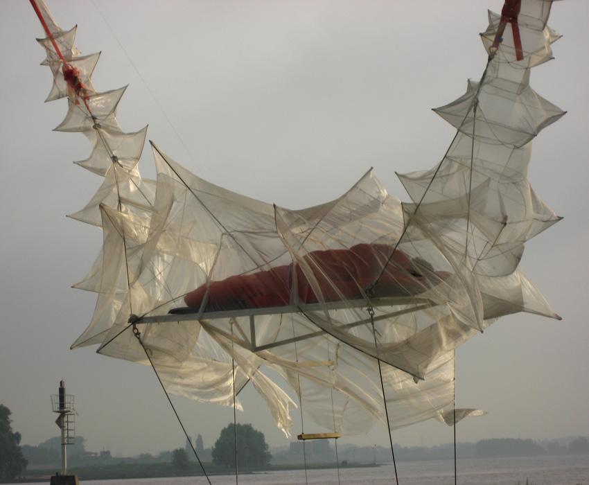 architectuurdag Nijmegen;fuik;kunstinstallatie;landart